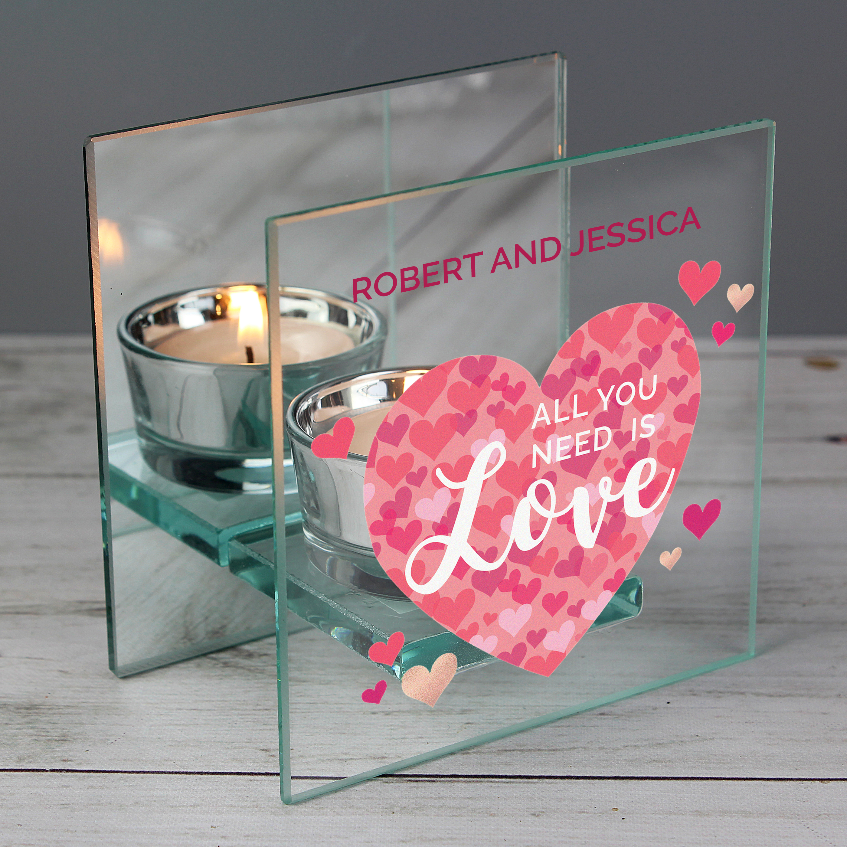 Personalised Tea Light Heart Candle Holder For DAUGHTER Birthday Keepsake Gift